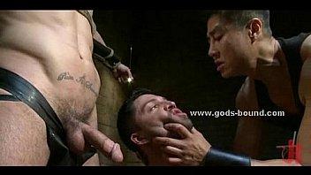 Asian gay master oriental bondage sex