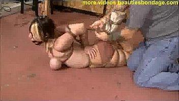 cute Lexi Laine breast bondage...