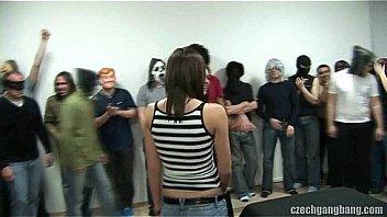 BUSTY GIRL AT CZECH GANG...