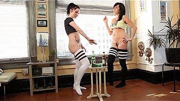 hot girls pee standing
