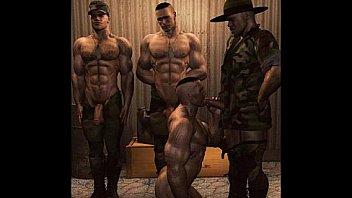 3D Muscular Dudes!
