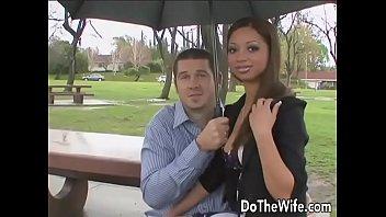 really cute wife angel cummings takes big black dick