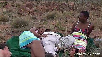petite african girl sucking dick on safari trip