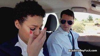 Driving instructors eats sexy black...