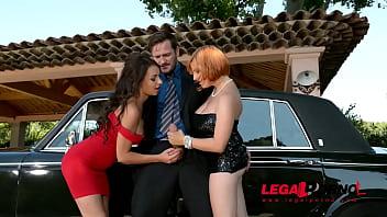 Comfort! redhead gangbanged in limo bad