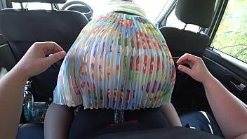 A girlfriend in the car...