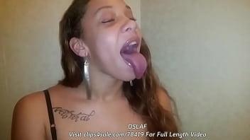 Natte Ebony deepthroat