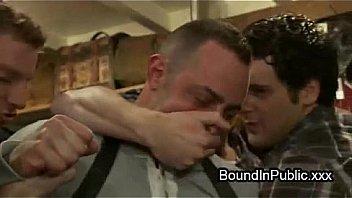 Bondage Guy Face Sprayed