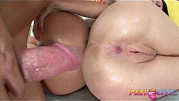 pervcity two brunette sluts ass fucked