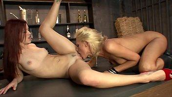 Drunk Lesbian Convinces Bartender Into Sex On Bar Top