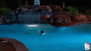 Zac Efron shirtless in pool