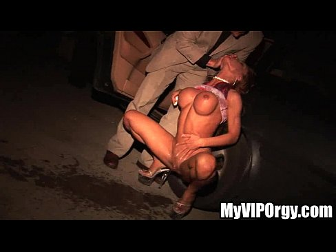 drunken slut gets railed in the limo