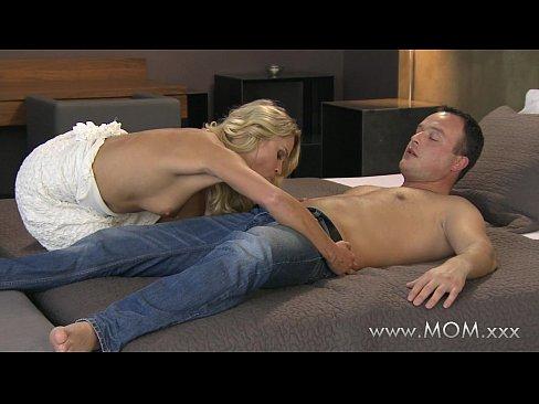Sexy blonde mom
