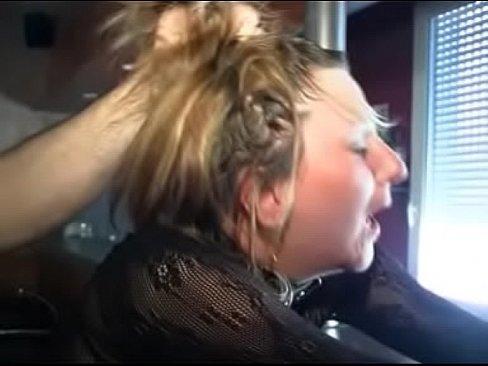 Short haired redhead girl masturbates fingers