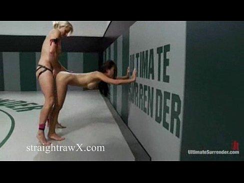 Stropon lesbians wrestling