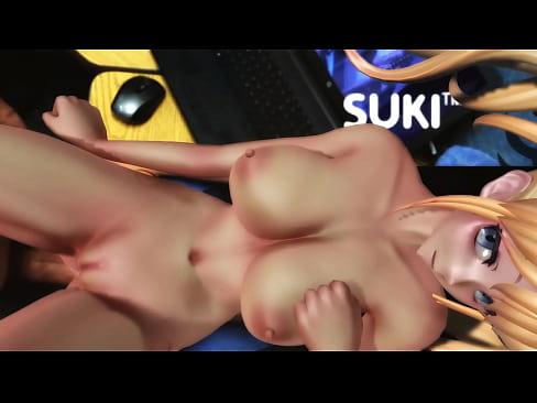 Virtual Reality Blonde Teen