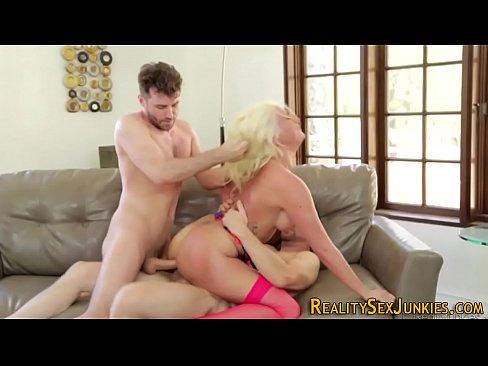 Blonde pornstar gets dp