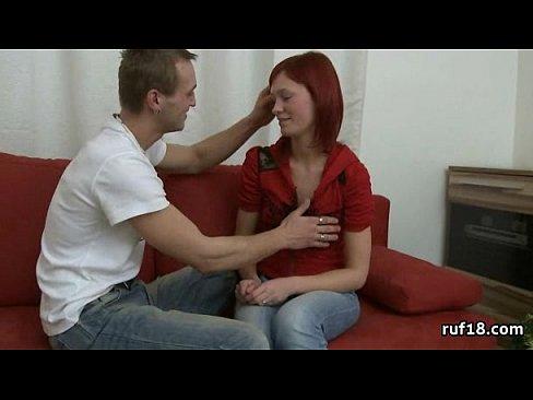 Amateur brunette having sex video