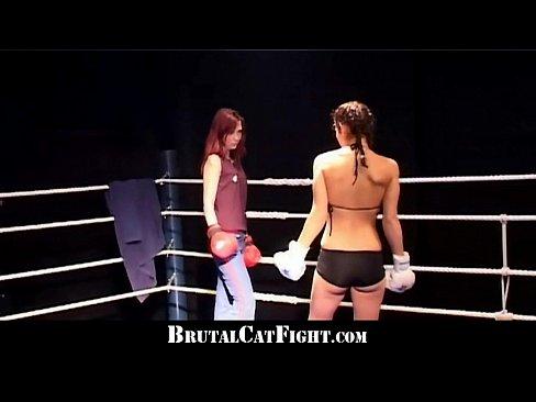 Whores boxing naked ring