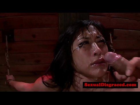 Mia Li gets throat ravaged and choked