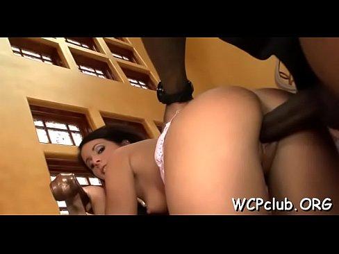 Darksome cock for white butt