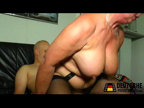Big tits blonde granny