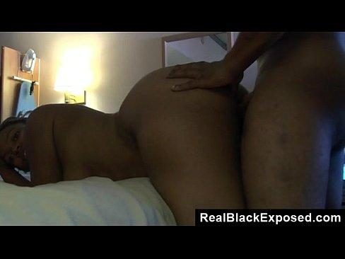 Ebony Backshots White Dick