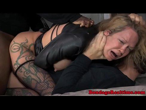 BDSM sub Rain DeGrey double penetrated