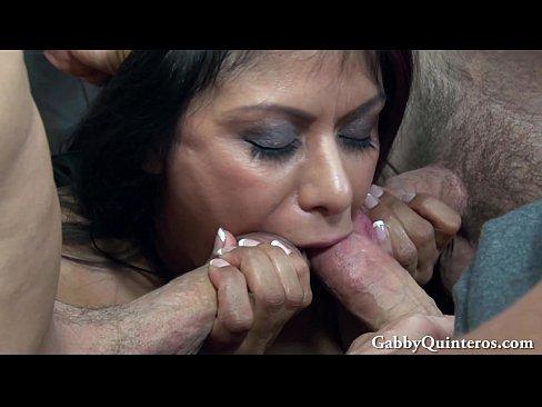 MexiMILF Gabby Quinteros Gets Gangbanged!