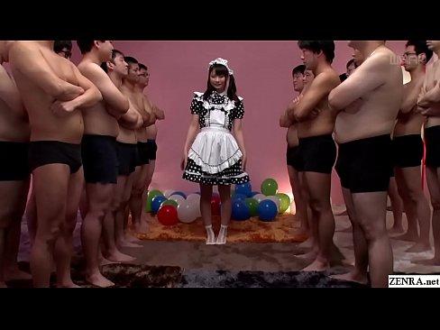 JAV enorme gokkun evento Airi Natsume cameriera cattivo fellatio con vetro Sottotitoli