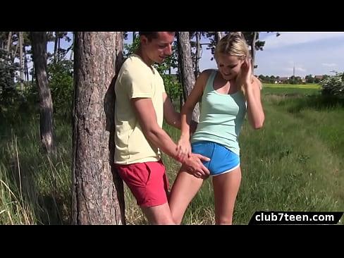 Buff amateur outdoor sex