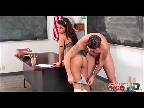 Cute Ebony Schoolgirl Small Tits Fucked Inside Classroom At School For Money