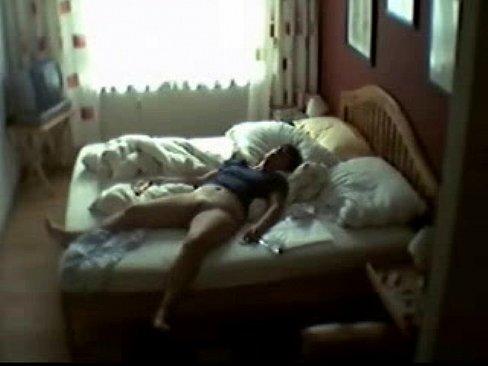 Real hidden cam caught mom masturbating in my room - www.MyFapTime.com
