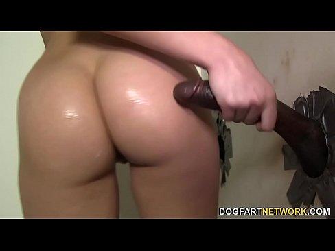 brunette Bathroom busty gloryhole