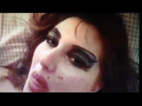 Eye makeup blowjob