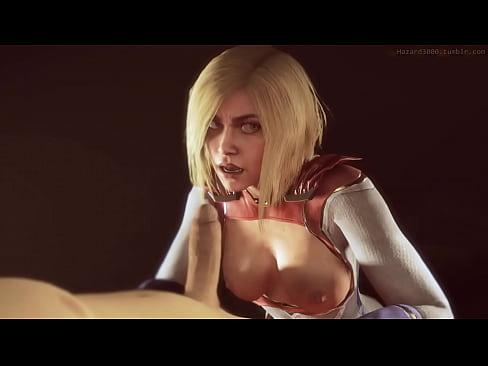 Powergirl blowjob