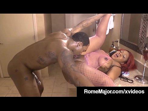 Hot Ebony Fucked Shower