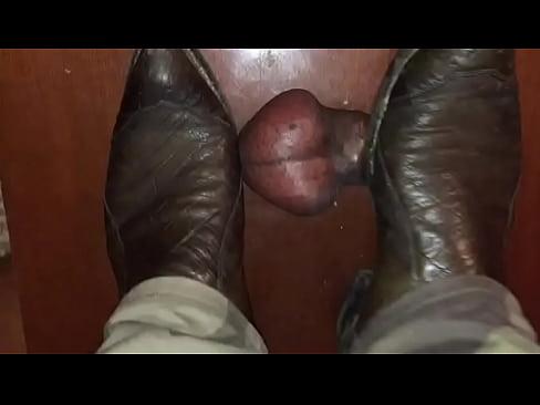 slave Interracial boot