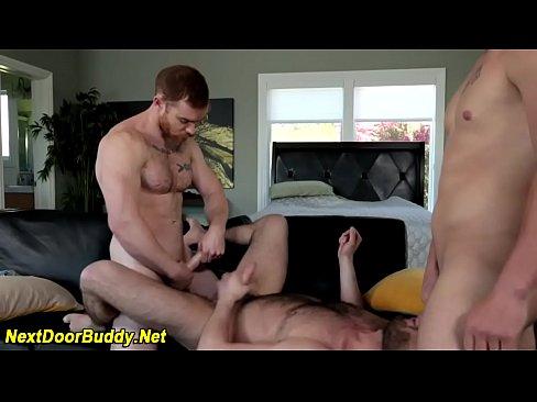 Jock trio fuck and suck