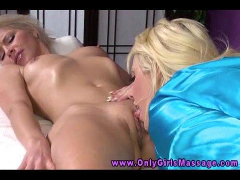 Surprise Lesbian Pussy Massage