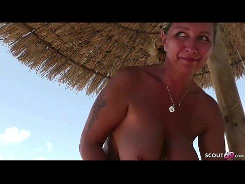 Nude blonde beach