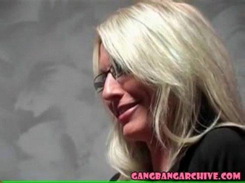 German Blonde Teen Gangbang
