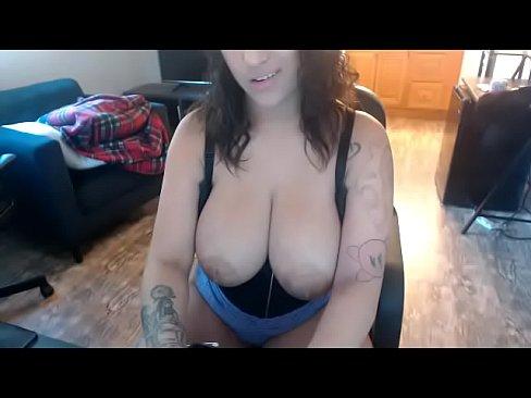 Incredible boobs amateur webcam girl