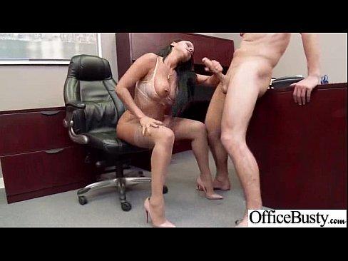 Nasty Slut Girl (diamond kitty) With Big Juggs Banged In Office video-14