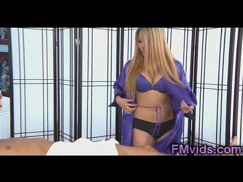 Cock sucking after massage