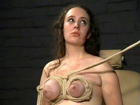 Bondage girl tit slave