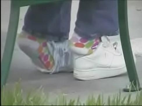 shoeplay with socks