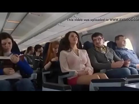 Airplane on girl flashing