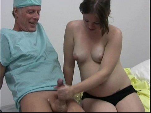 Handjob pregnant slut, sexy naked ass pussy