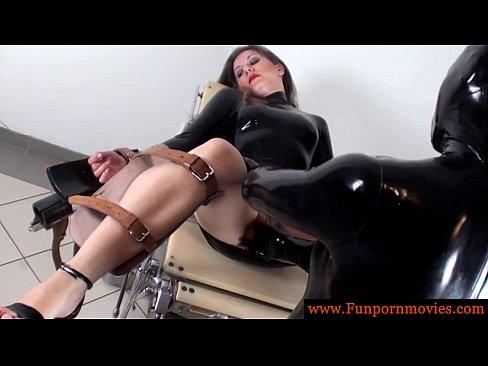 Lesbian kinky fetish latex rubber